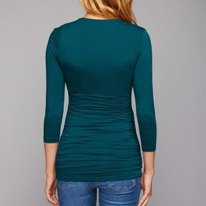 A Pea in the Pod Tops - Green Scoop Neck Maternity T Shirt Pea in the Pod